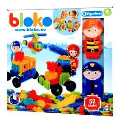 Set de construit BLOKO Tepi 52 piese cu doua figurine, politist si pompier STEM Education