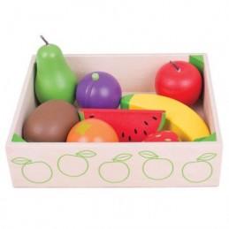 Cutiuta cu fructe din lemn...
