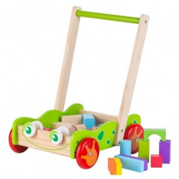 Antemergator din lemn + 20 de cuburi Ecotoys 2120
