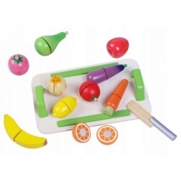 Set de fructe si legume din lemn 4309 Ecotoys