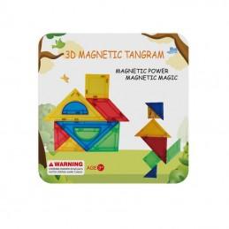 Joc de constructie magnetic - Tangram (7 piese), MAGPLAYER